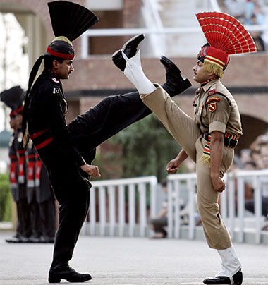 Wagah Border Ceremony parade